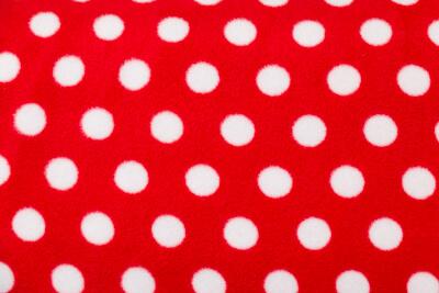 polarfleece Punkte Rot